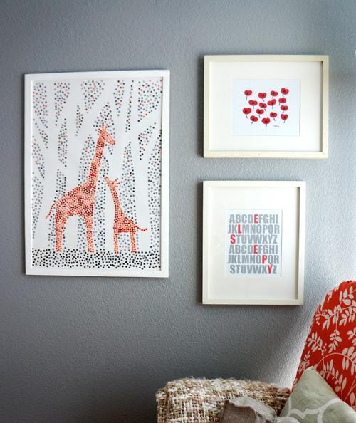 Paint Chip Giraffe Art