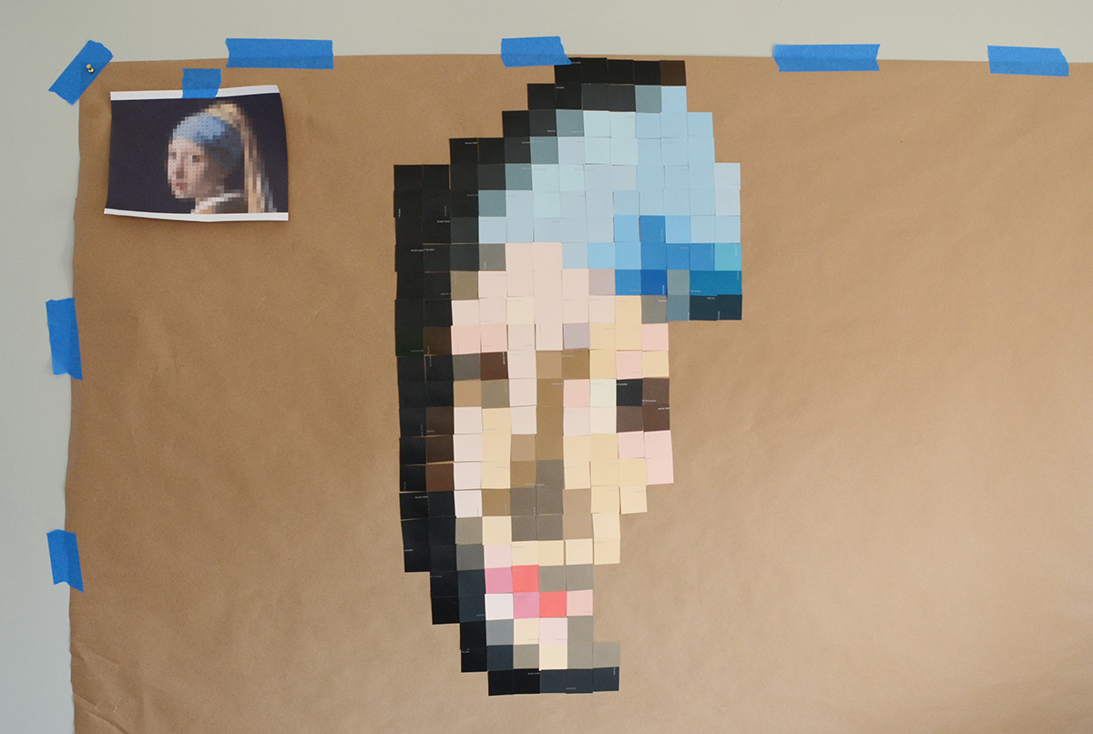 Paint Chip Girl With A Pearl Earring 5