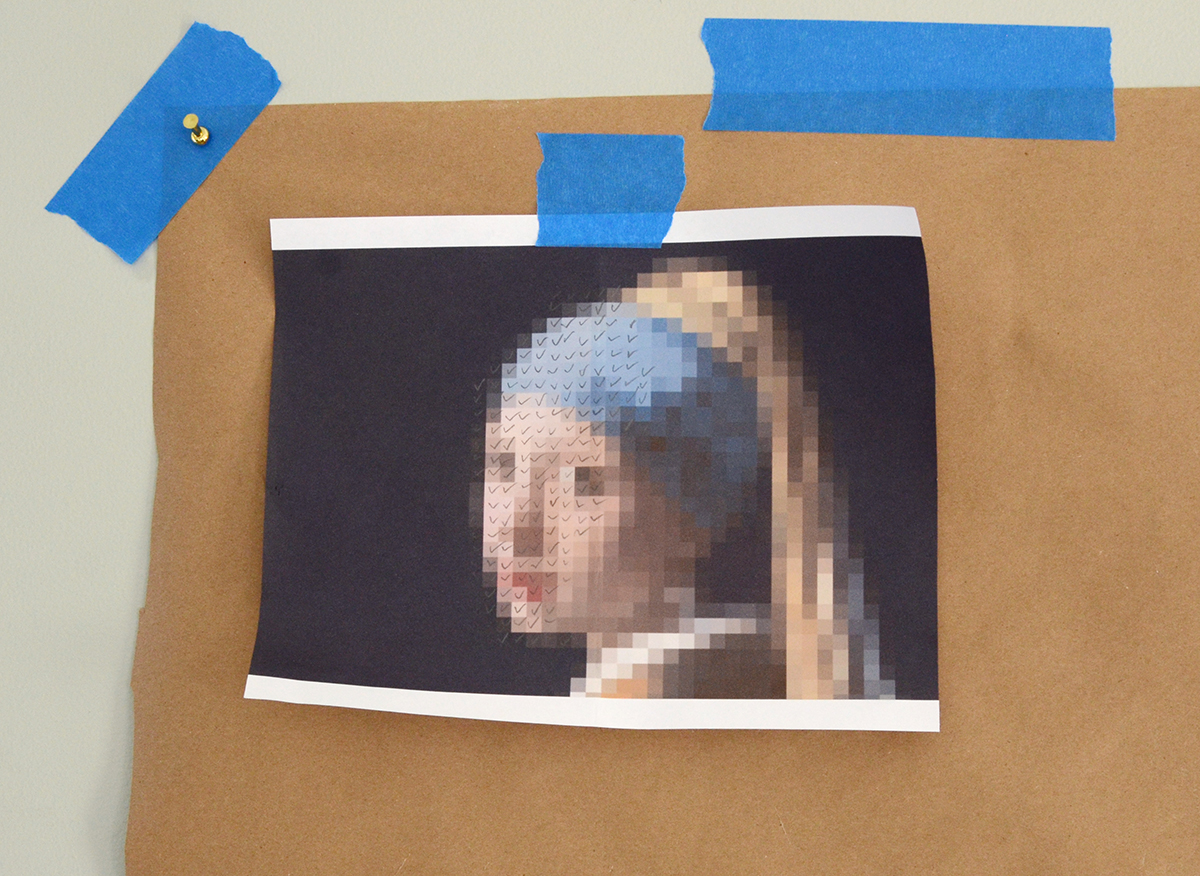 Paint Chip Girl With A Pearl Earring 6