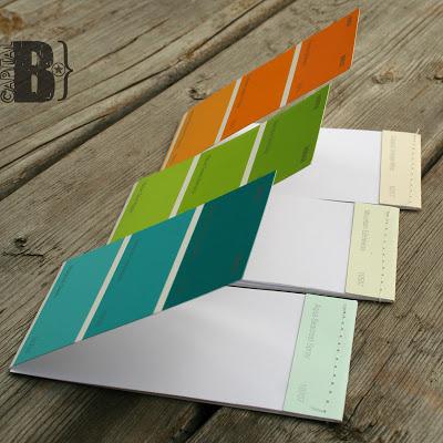 Paint Chip Matchbook Notebooks