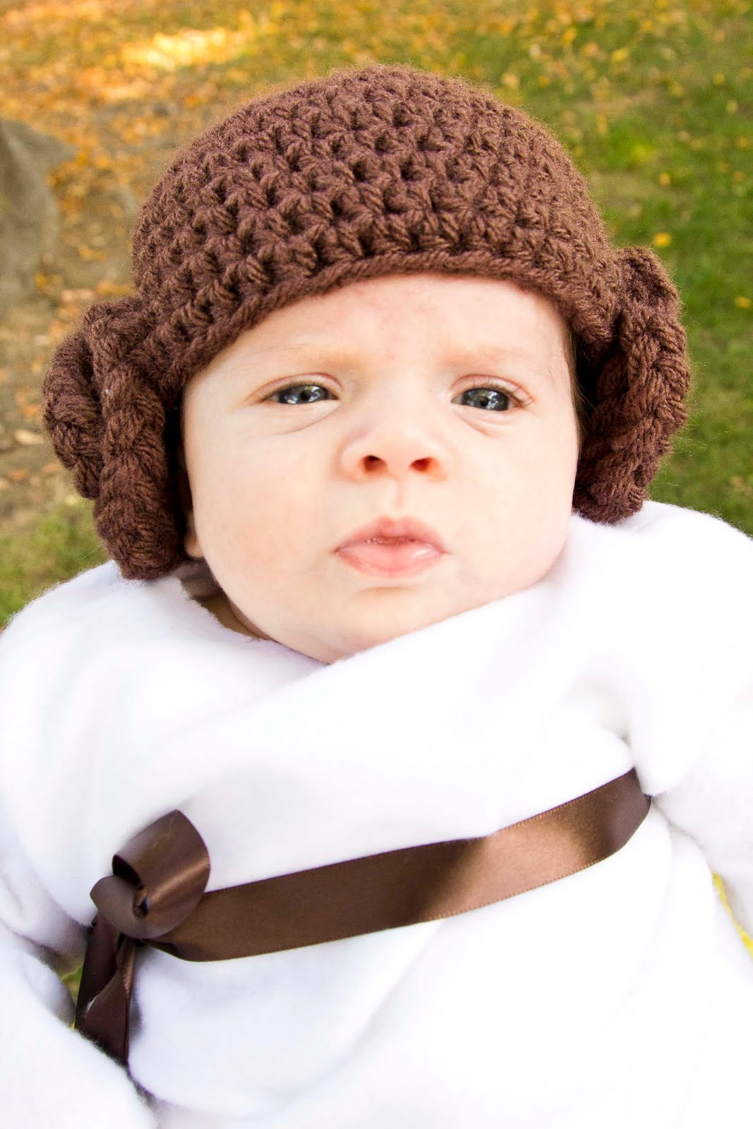Princess Leia Baby Crochet Hat