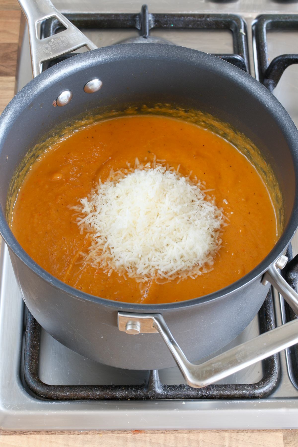 Roasted vegetable and Parmesan Soup step5