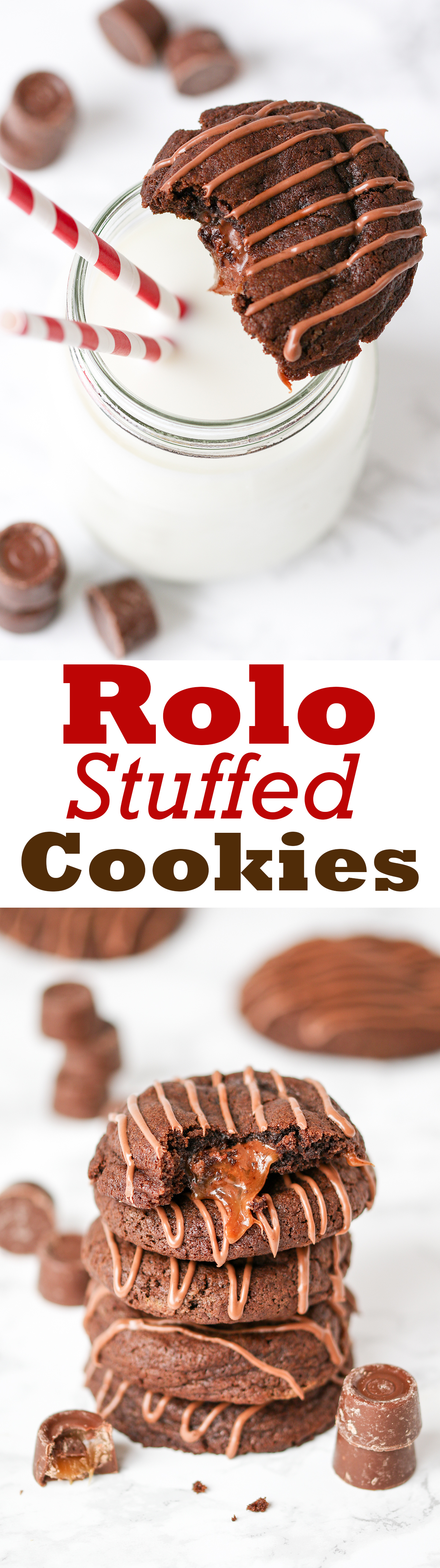Soft chewy cookies with a gooey Rolo center. One just isn't enough!