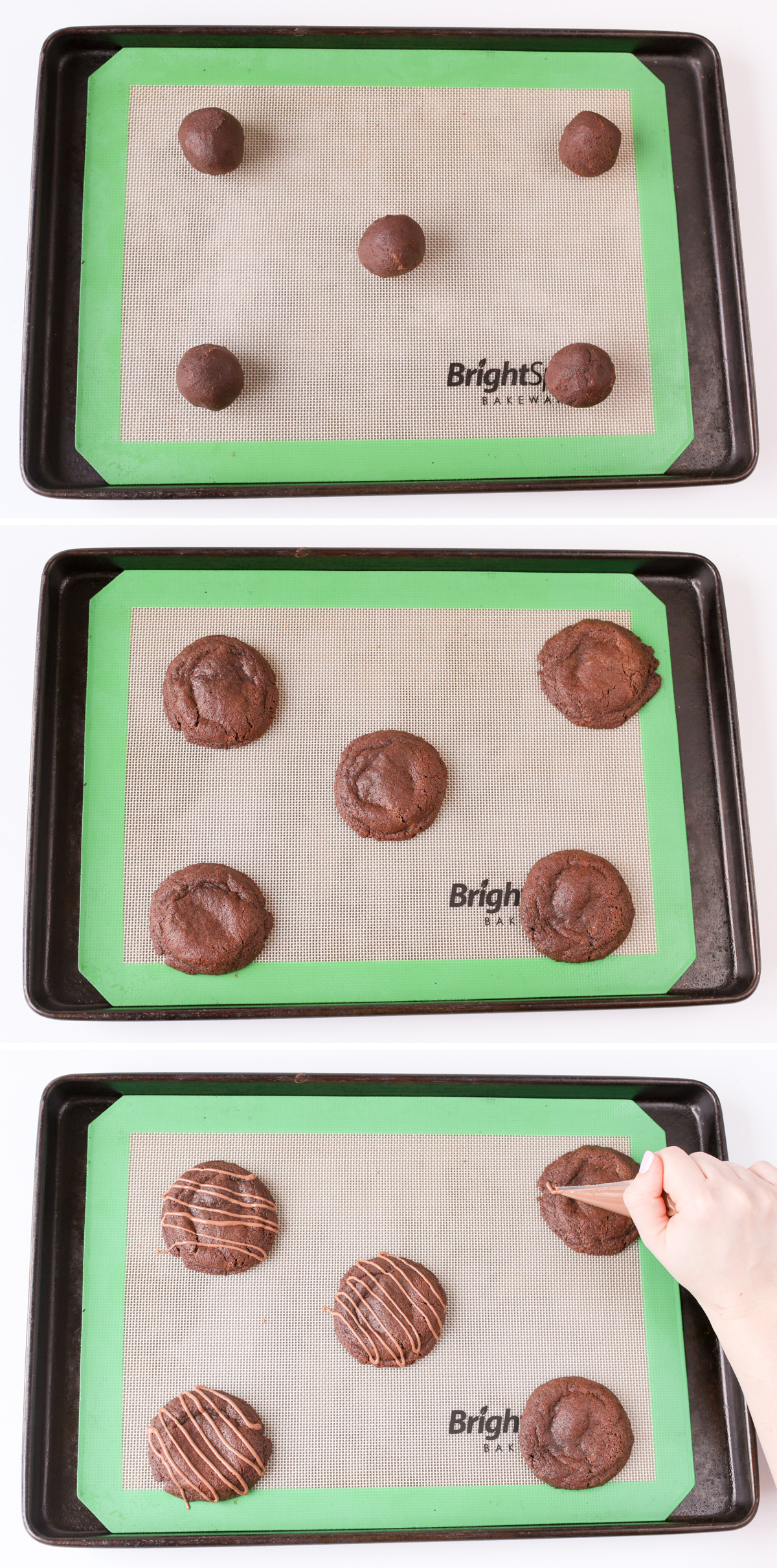 Rolo cookies collage 4
