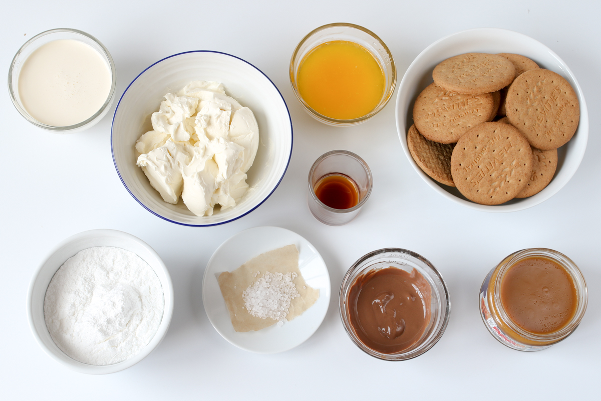 Salted Caramel Cheesecake Bites Ingredients