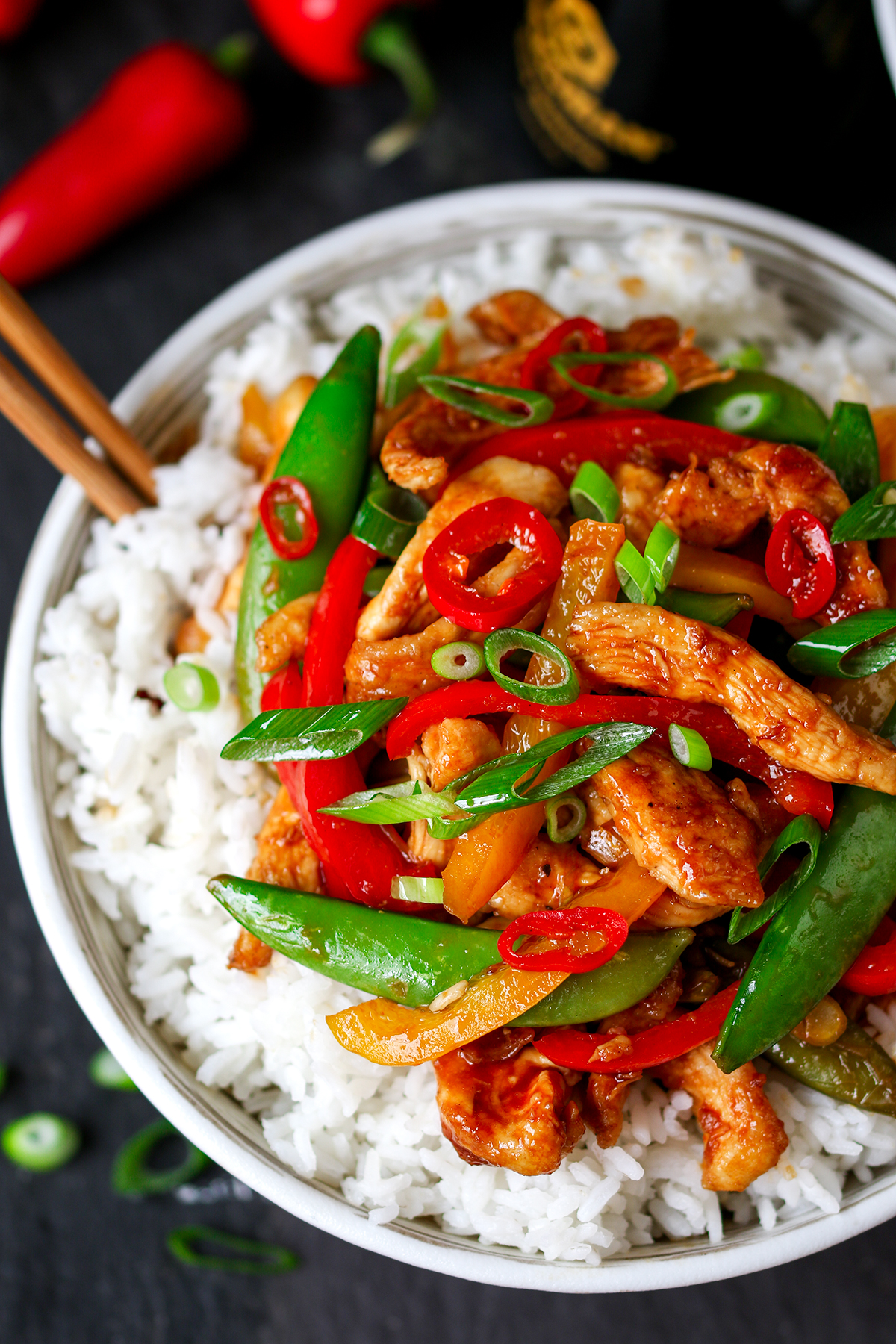 Spicy chicken and vegetable stir fry recipe -