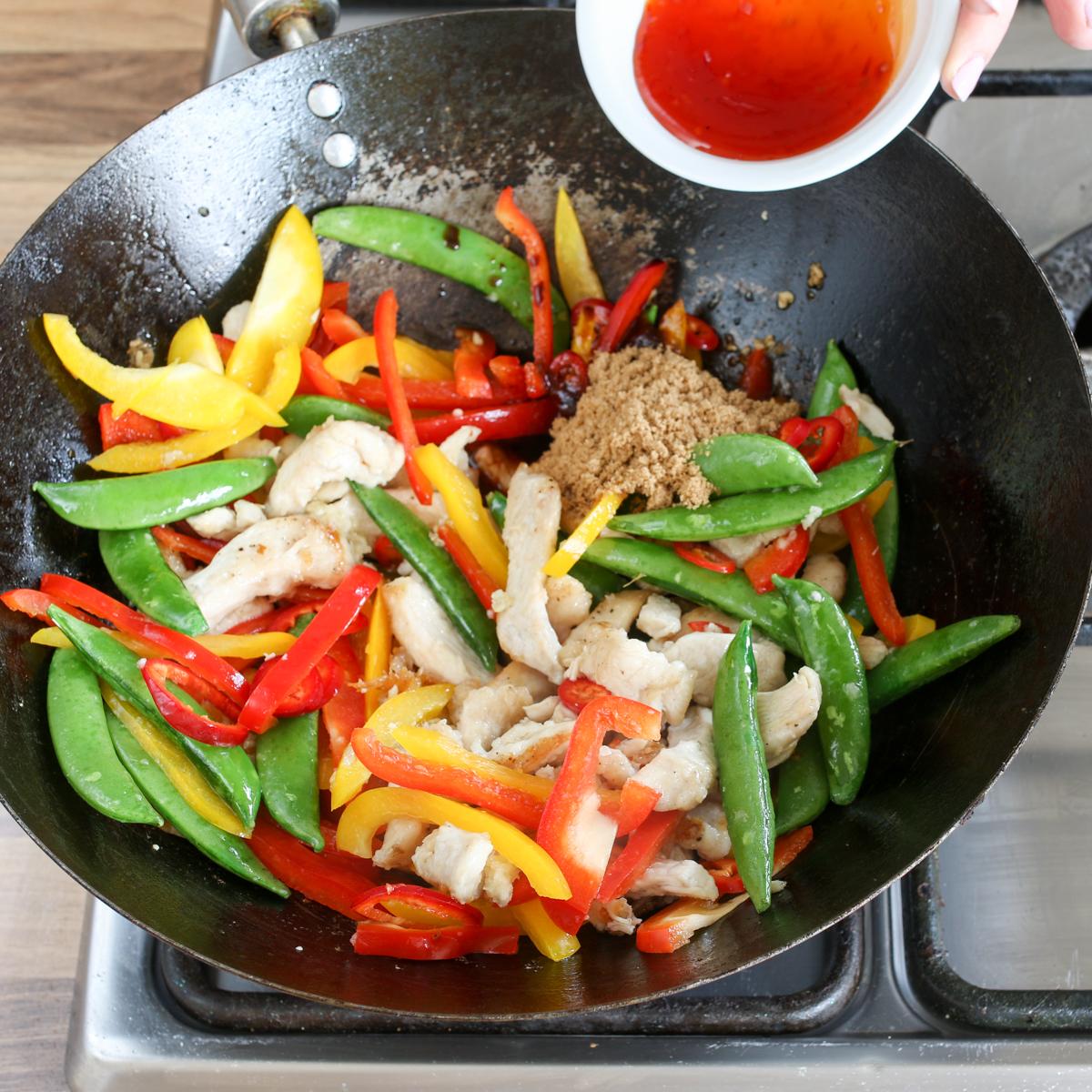 Spicy chicken stir fry step3-4