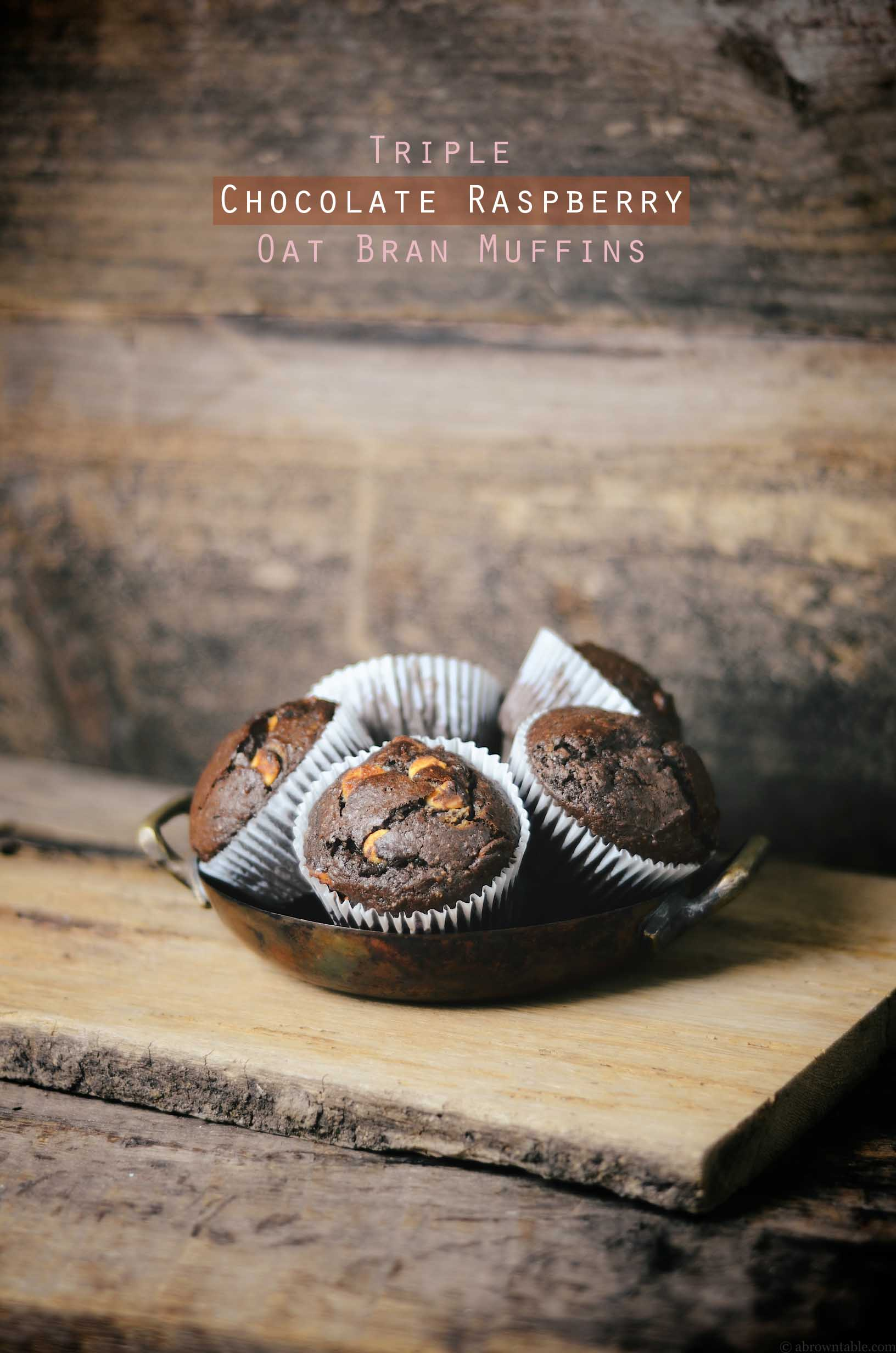 Triple Chocolate Raspberry Muffins