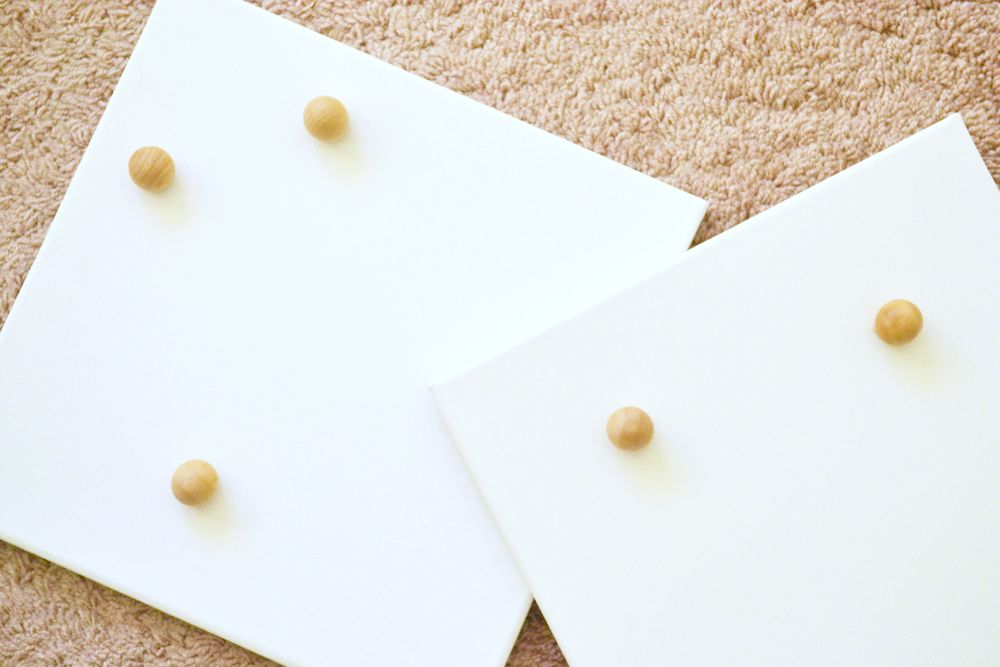 Wall DIY Jewelry Display Canvases - bottom and bead