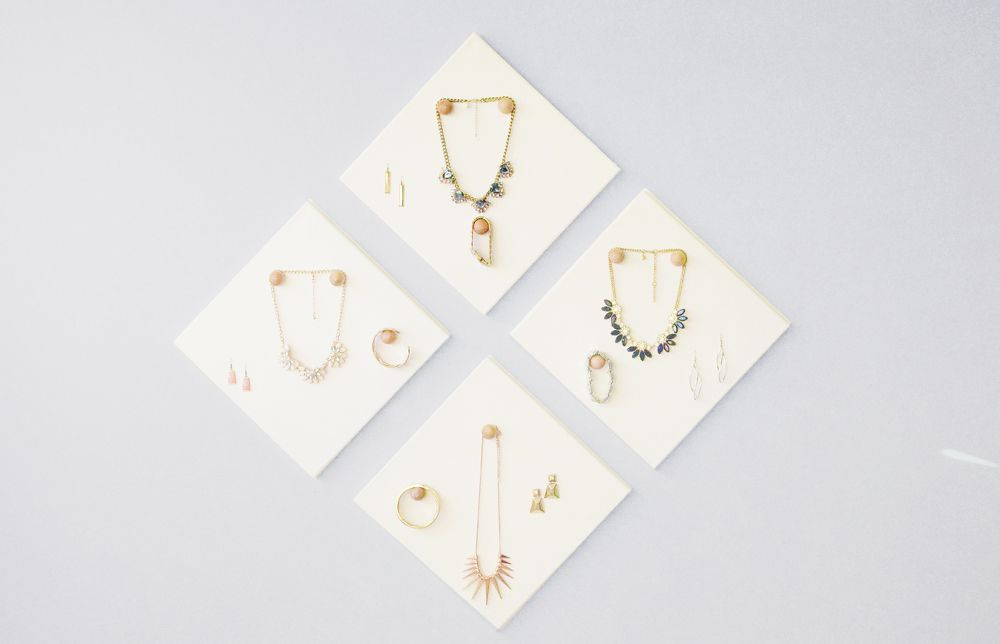 Wall DIY Jewelry Display Canvases