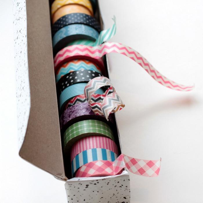Wax Paper Box to Washi Tape Dispenser via homework (5)[7]