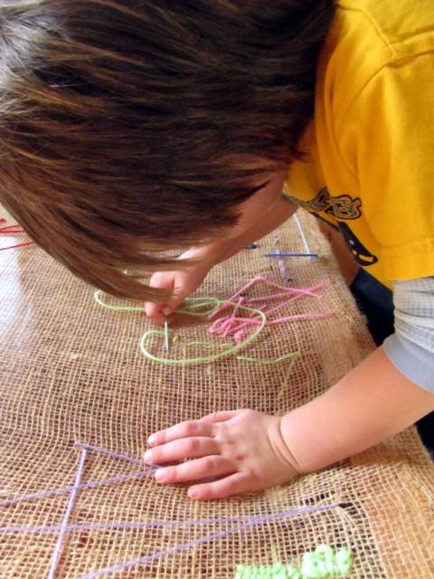 burlap-sewing