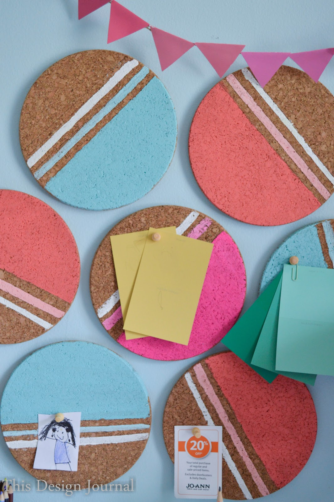 colorful cork bulletin board