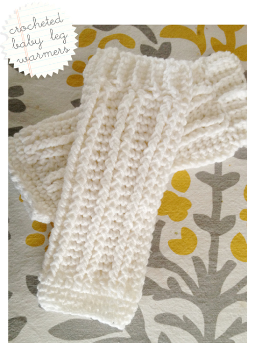crocheted baby leg warmers