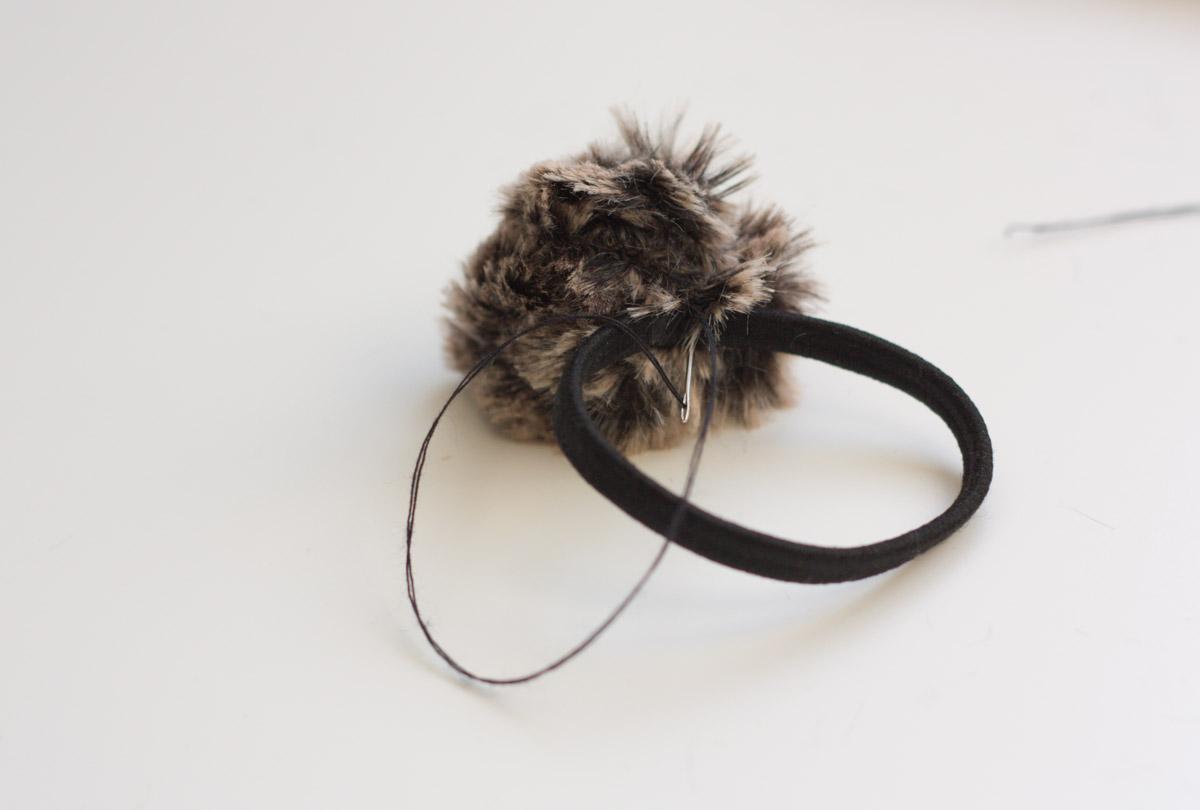 diy fur headband band