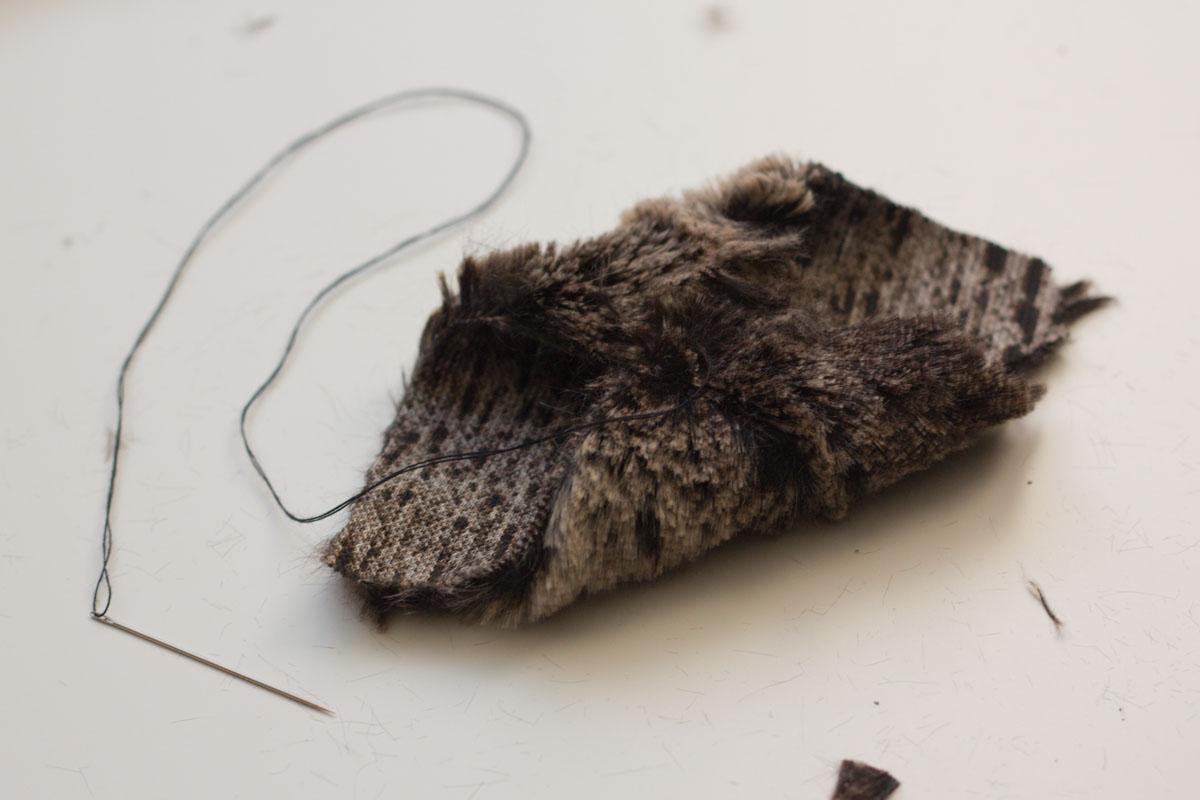 diy fur headband sew half