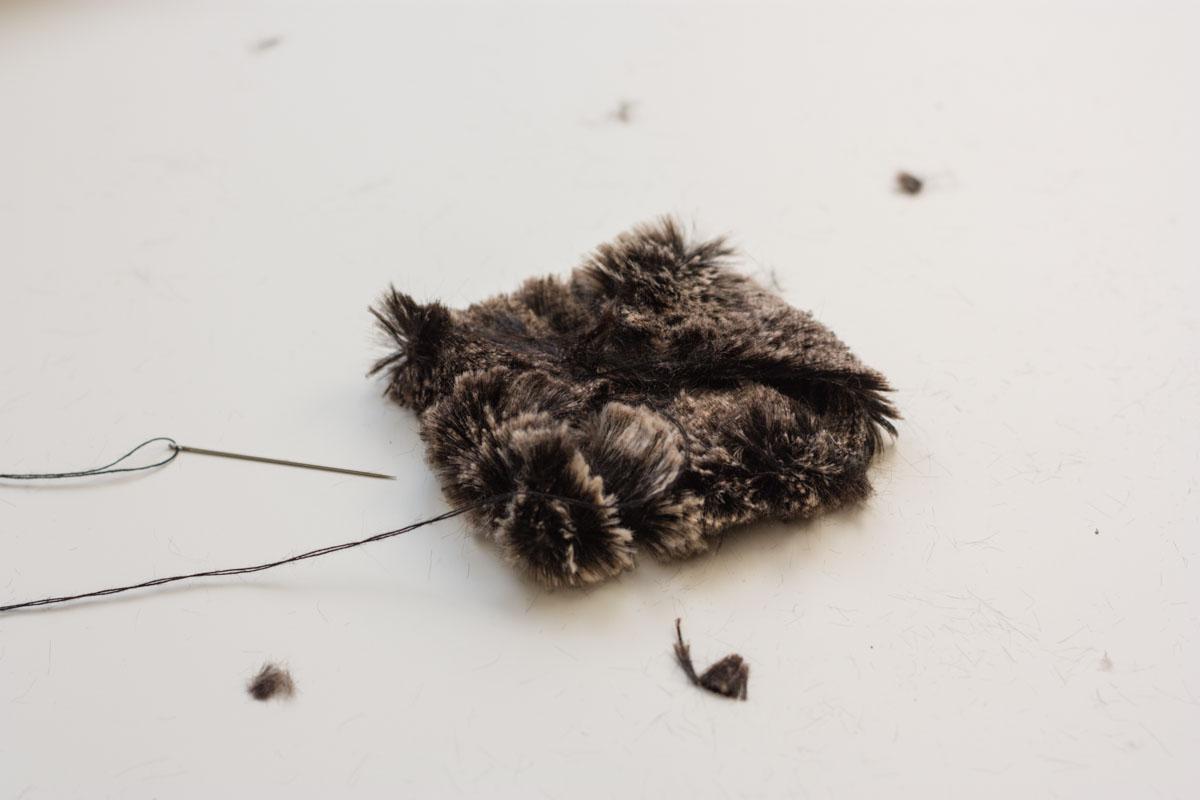 diy fur headband sew square