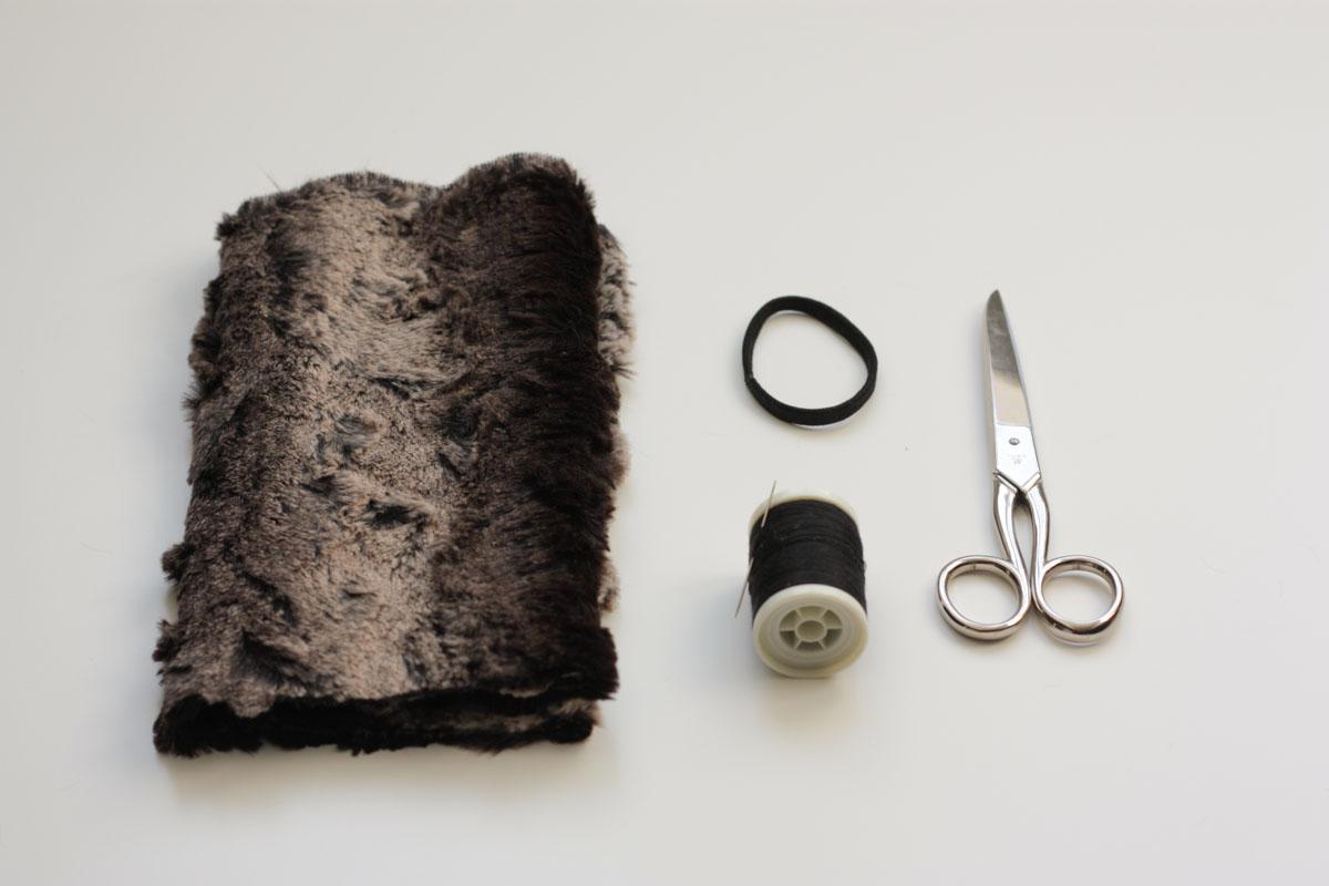 diy fur headband supplies