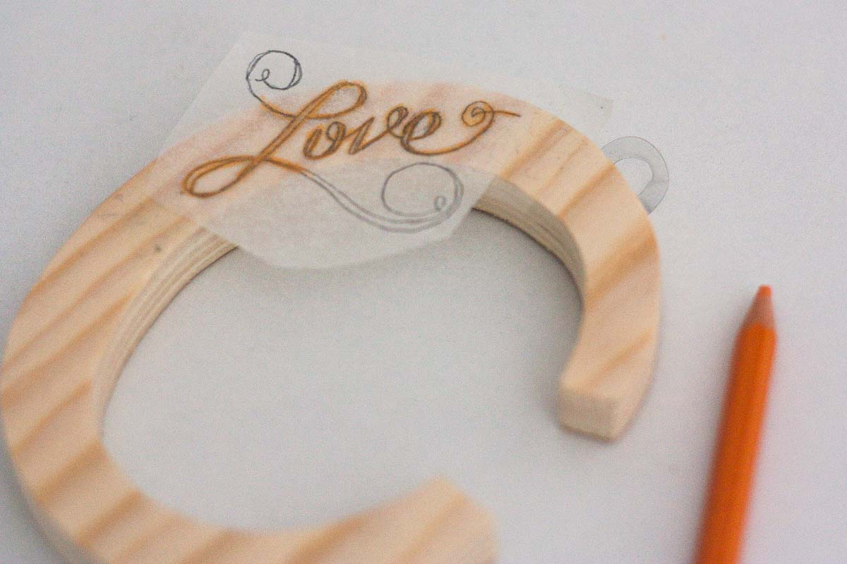 diy love letter wood sign handwritten transfer