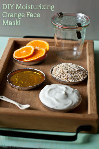 diy orange face mask