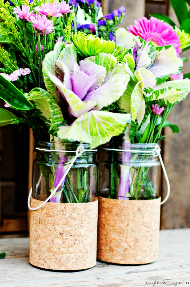 flower vase jar cork