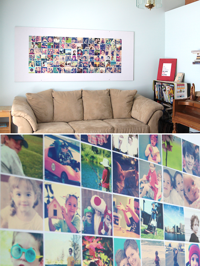 Giant collage frames Unique DIY Picture Frames