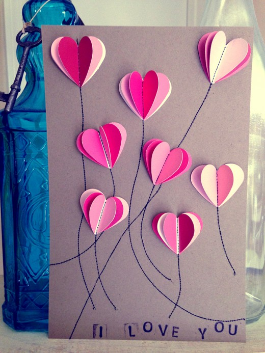 diy paint chip valentine's day cards | inspiration, cards and craft, Ideas