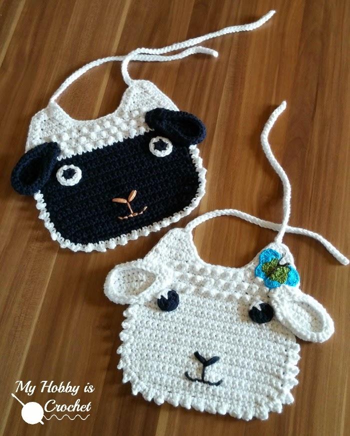 lamb bib crochet