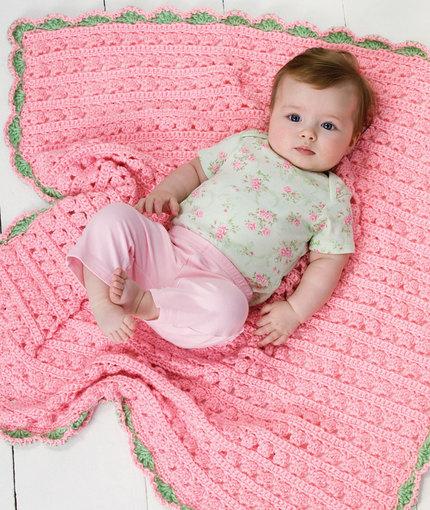 pink crochet blanket