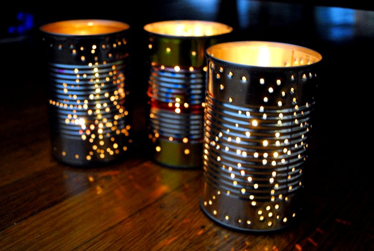 tin-can-lanters