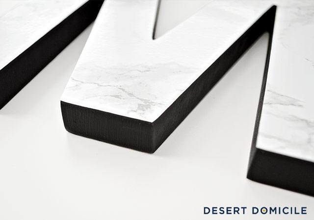 1 faux marble monogram