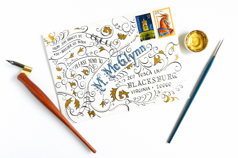 12 typography envelope template