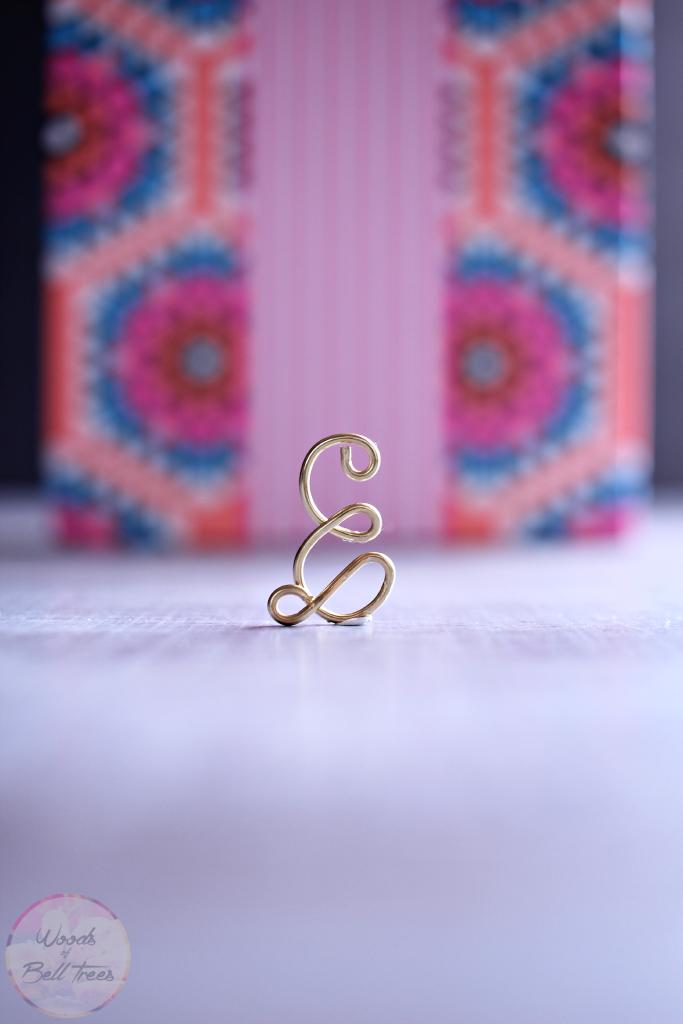 18 monogram pendant necklace wire tutorial