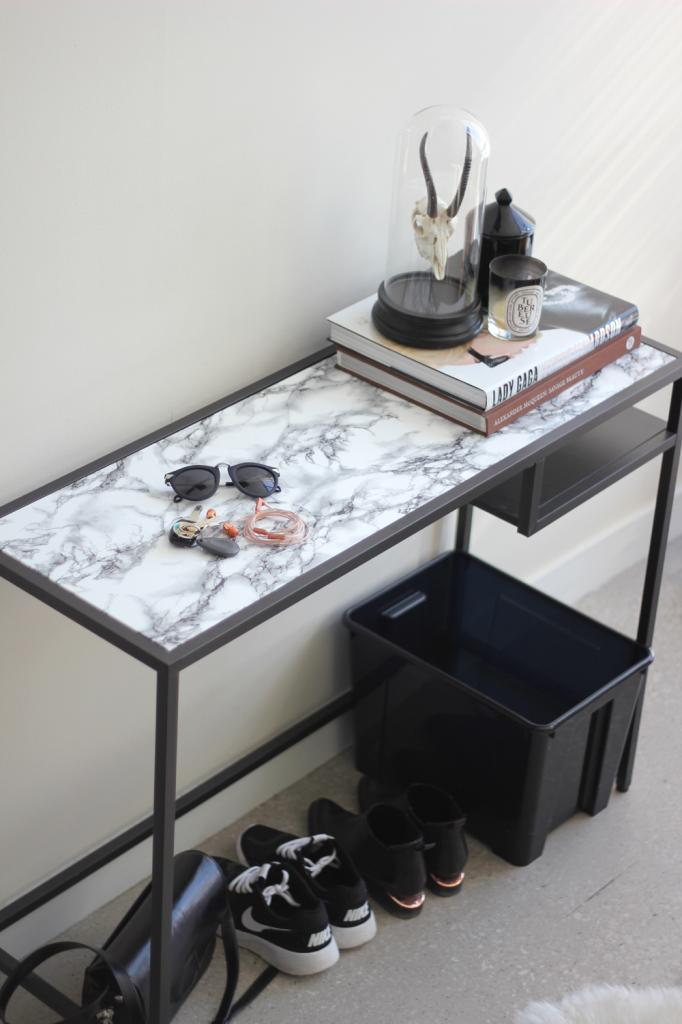 19 diy marble contact paper table