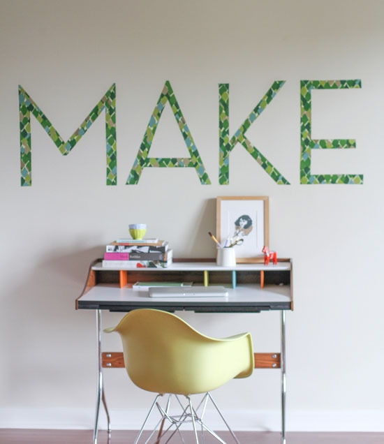 21 make fabric typography wall