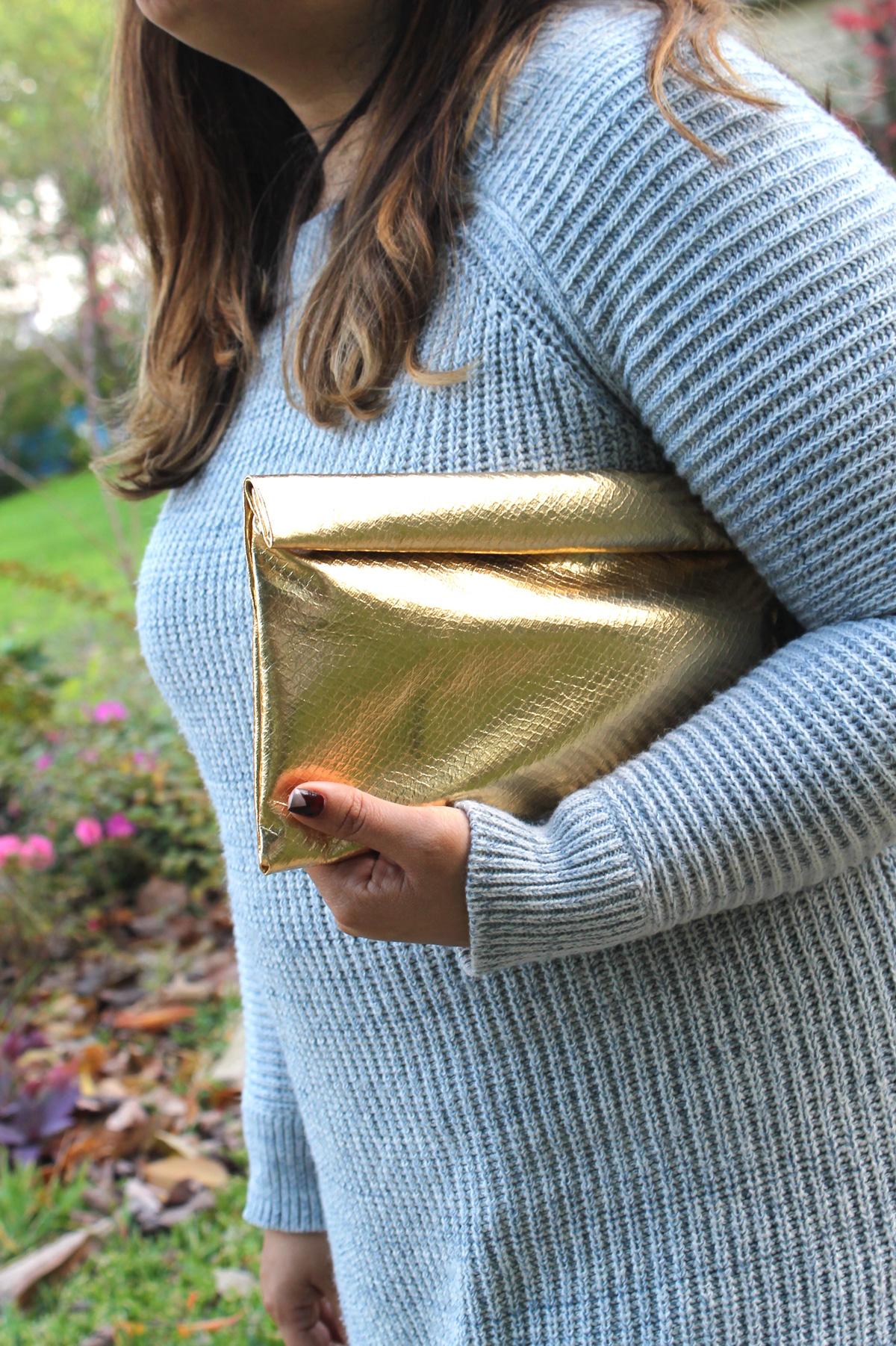 25 gold clutch purse diy