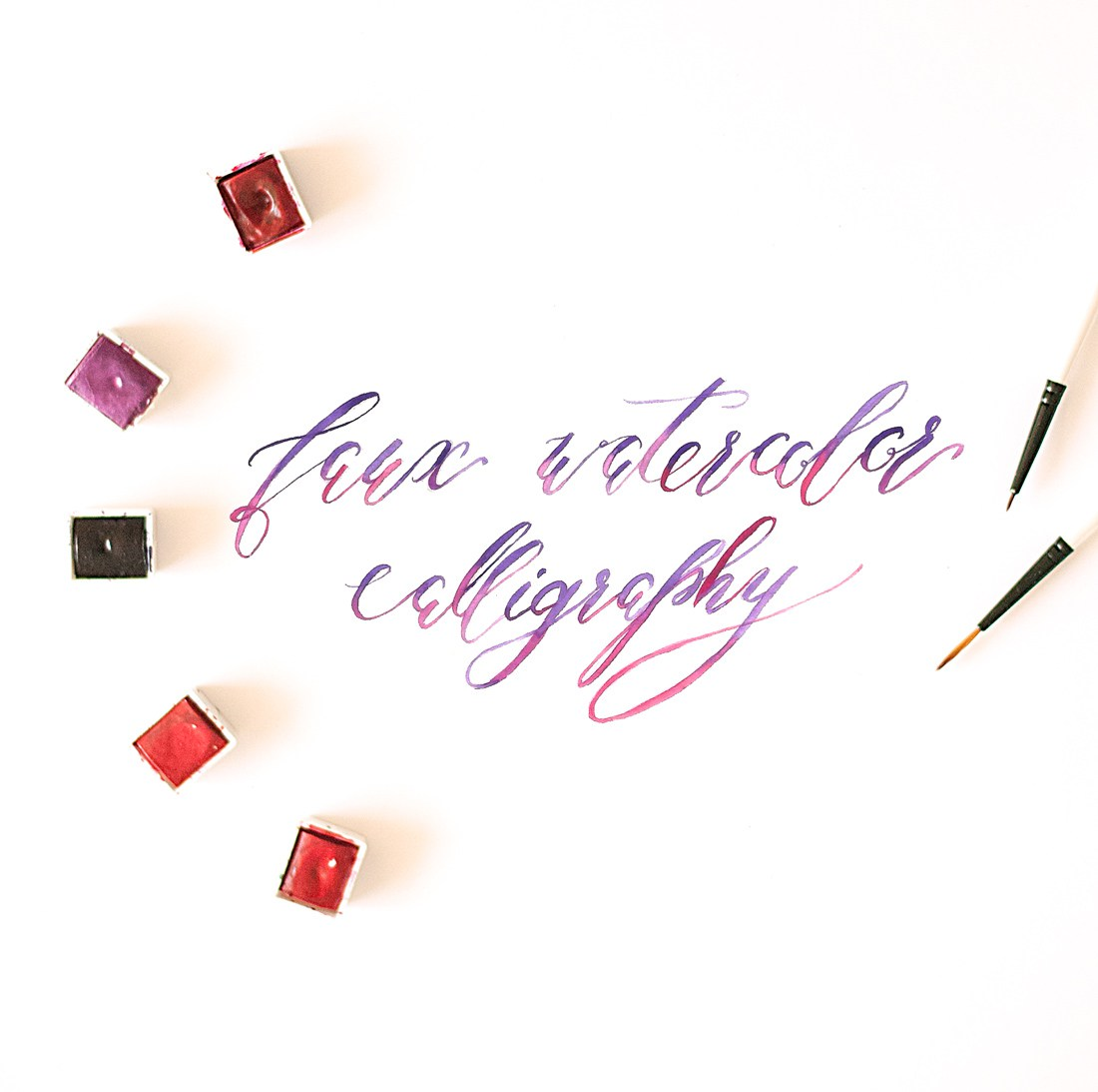4 watercolor calligraphy tutorial