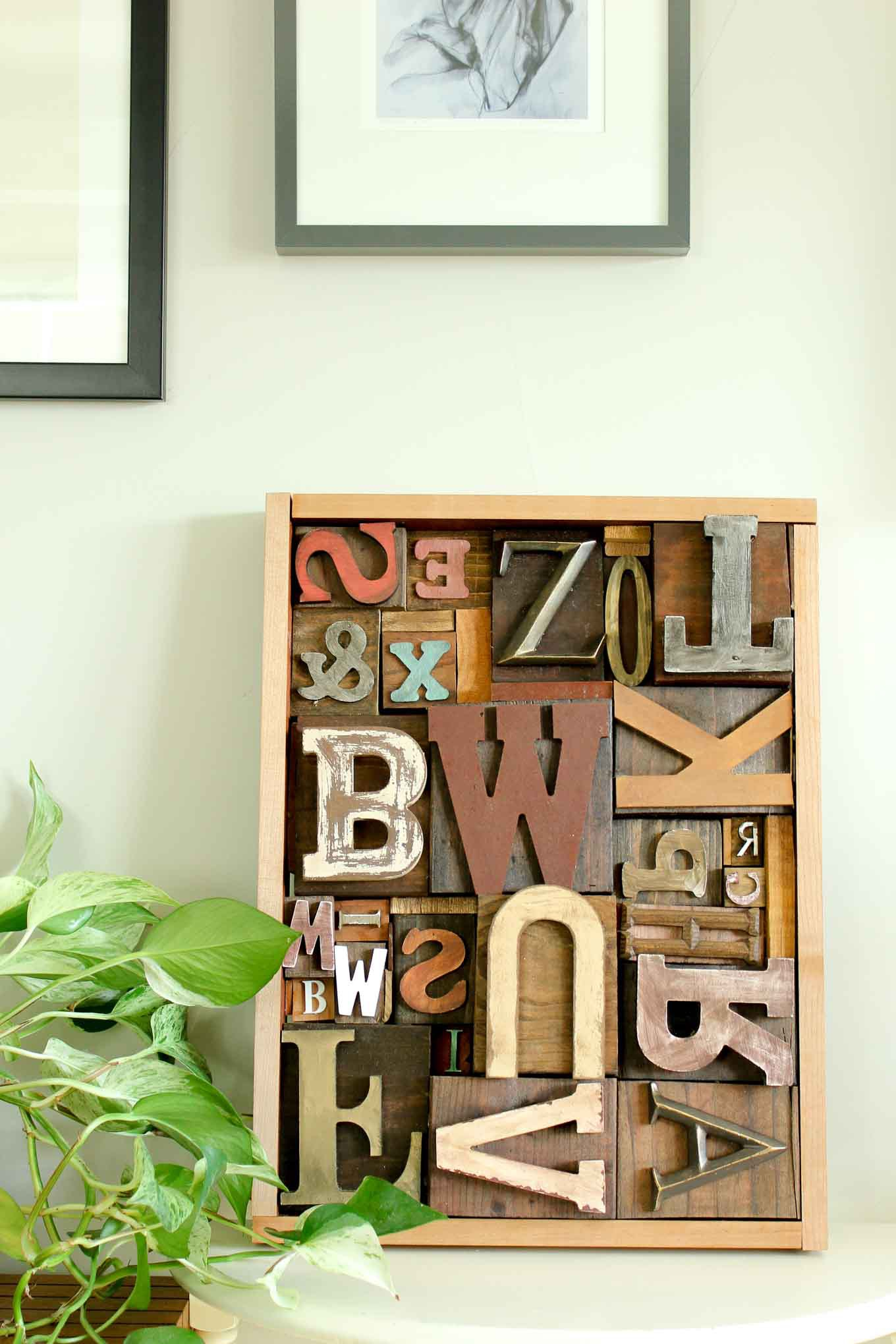 5 diy art idea wooden letter craft