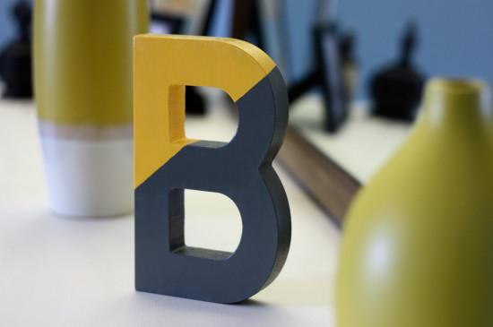 8 diy block letter