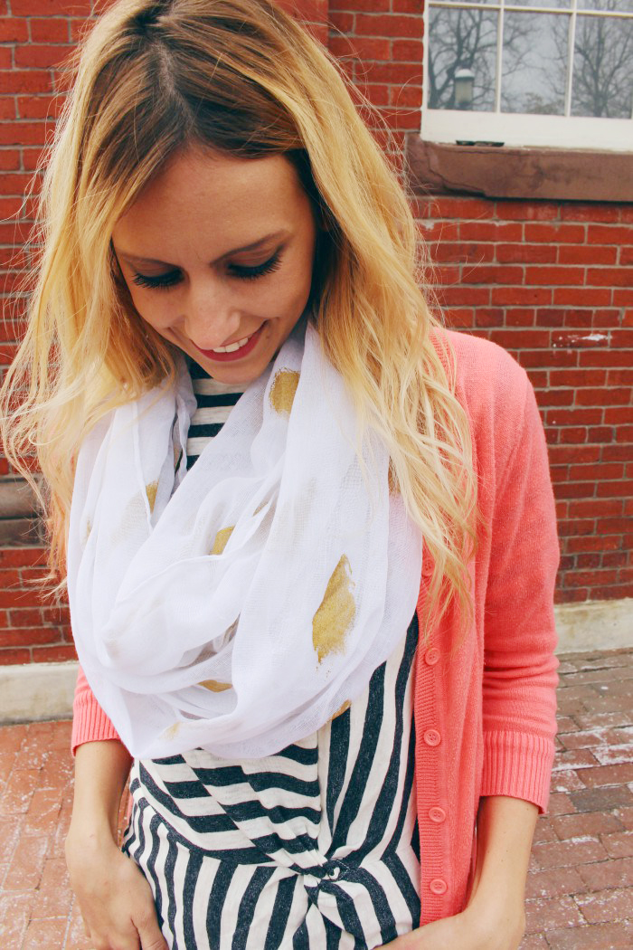 9 gold foil infinity scarf