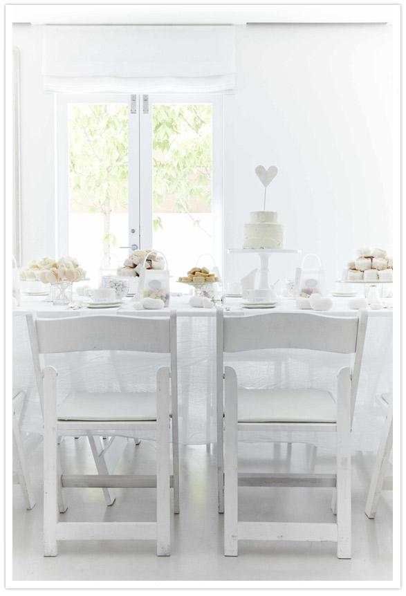All white bridal shower theme