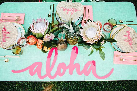 Aloha pineapple bridal shower inspiration 5