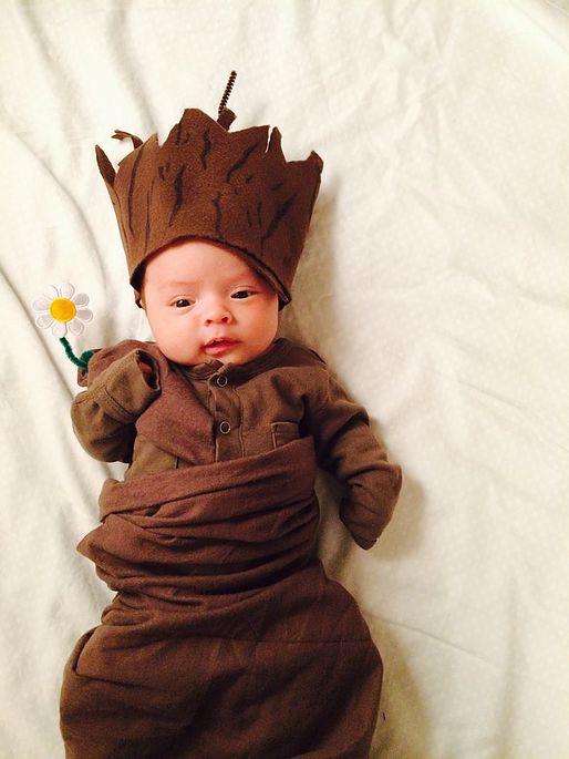 Baby groot diy costume