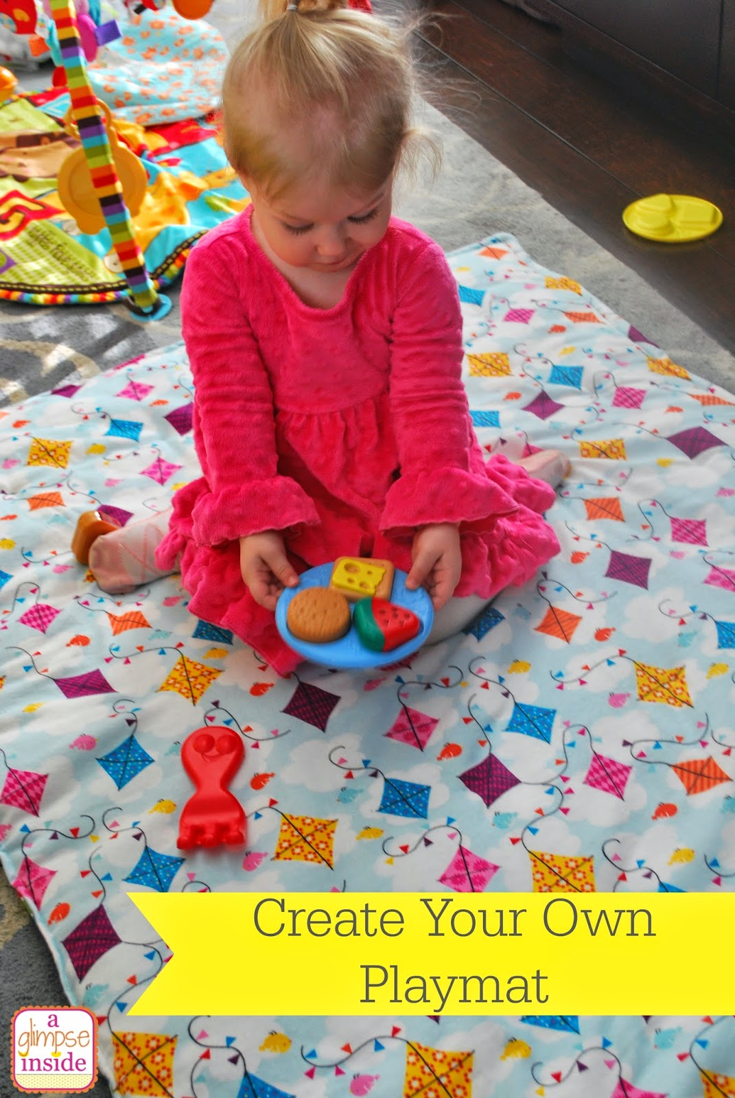 Blanket play mat diy