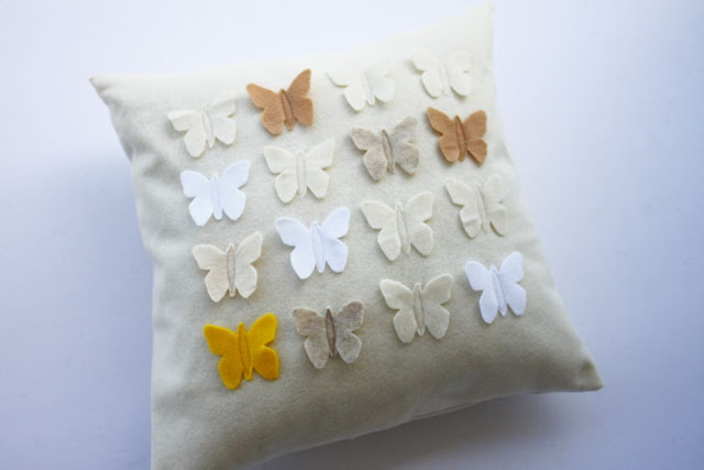 Butterfly collection pillow