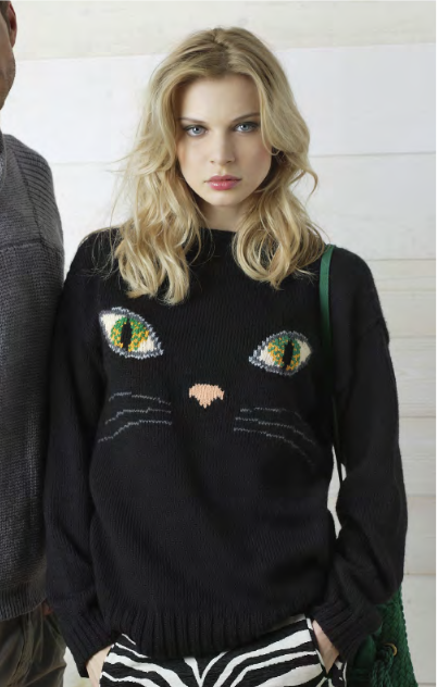 Cat face sweater