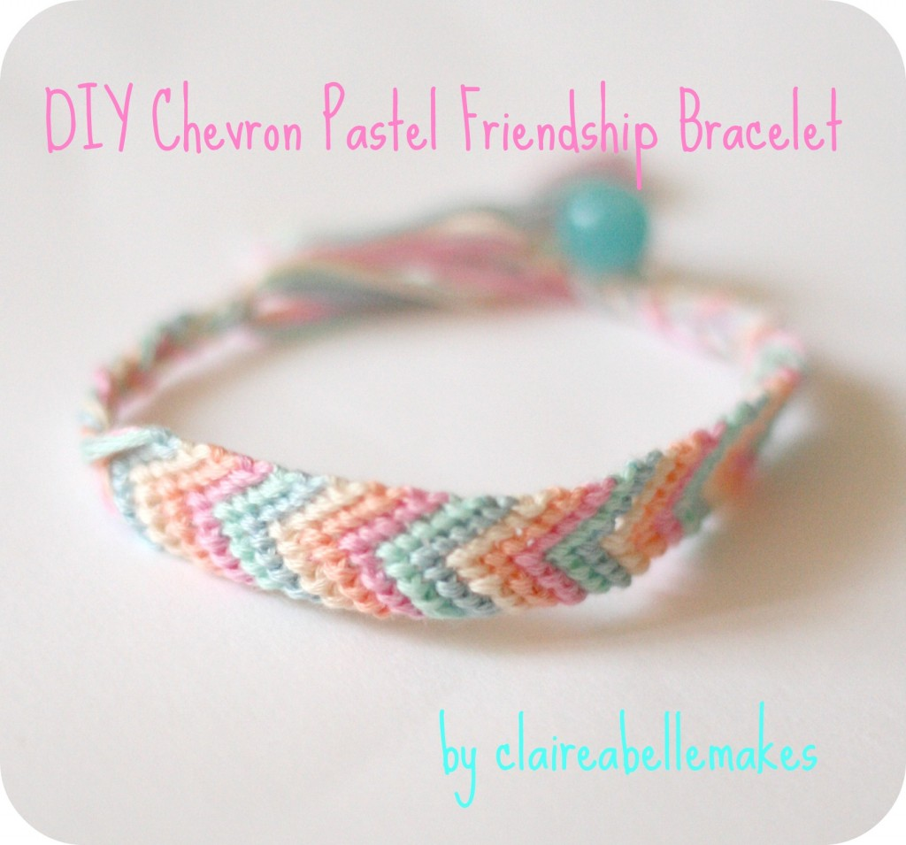 Chevron pastel friendship bracelet
