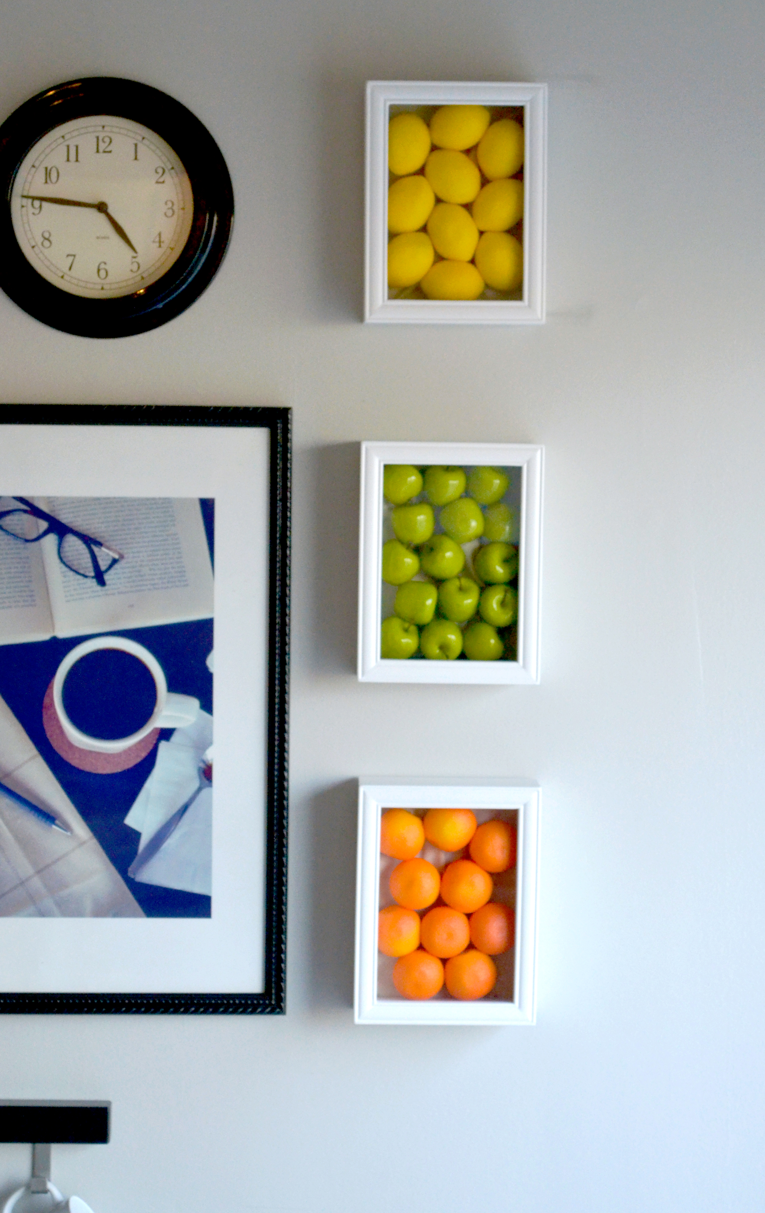 Wall Art Decor With Pictures : Colorful kitchen wall art with fake fruits