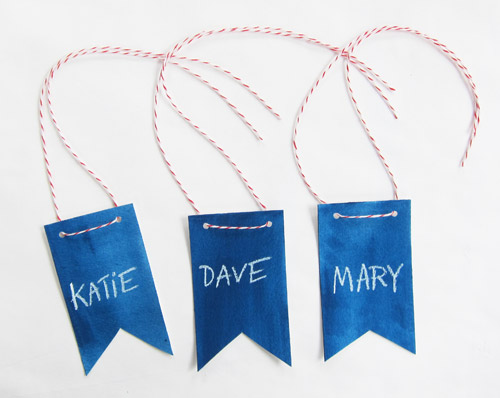 Diy banner name tags