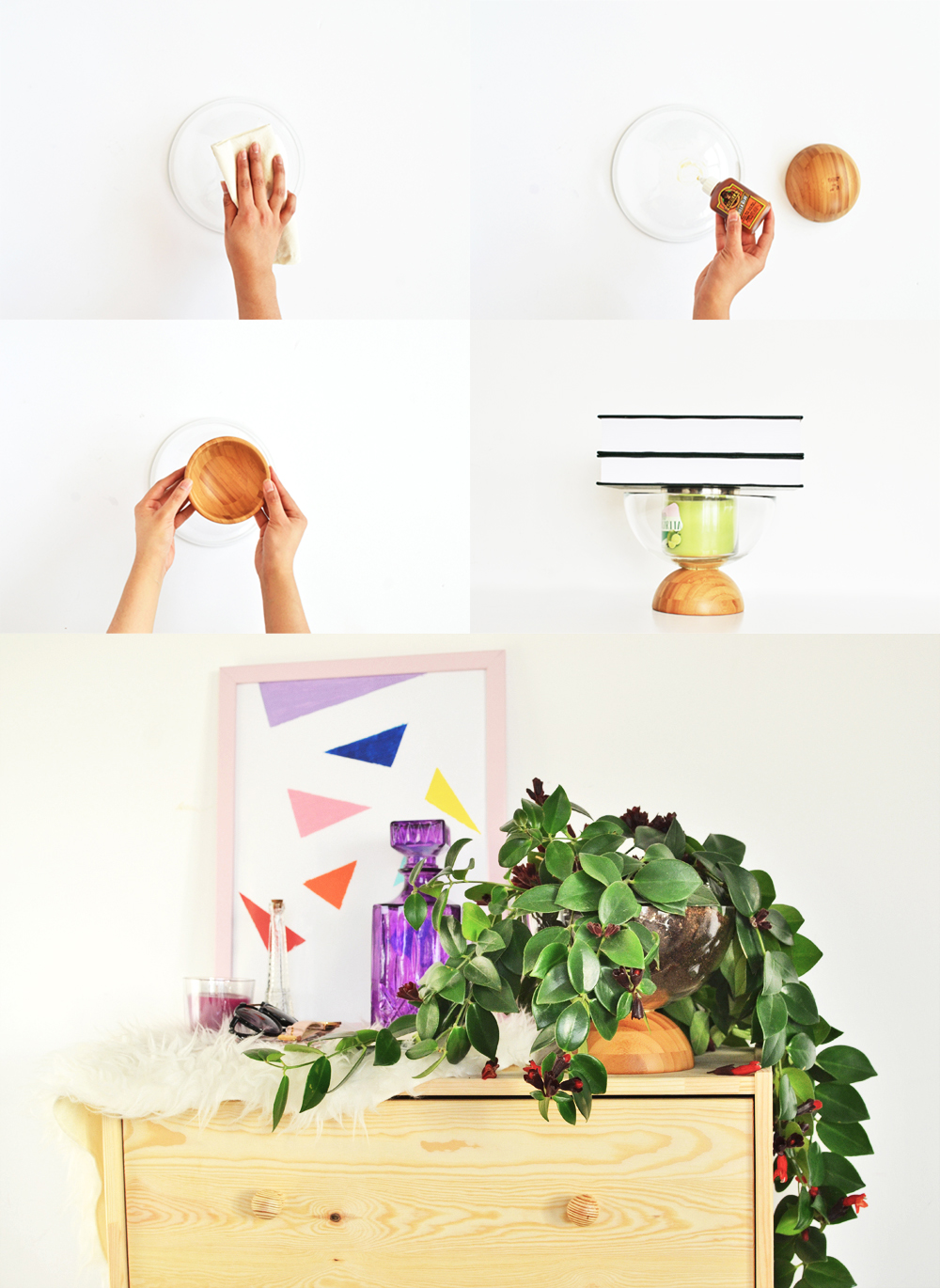 Need a unique planter to house your plants, look no further learn how you can make one with just two bowls, yet another classy IKEA Hack that you can't miss